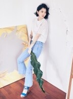 DENIM BOOTCUT PANTS_LIGHT BLUE