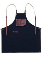 roco real cow leather apron (Navy) #AA1516