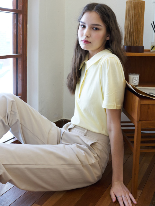 LTG3 COLLAR TOP(LIGHT YELLOW)