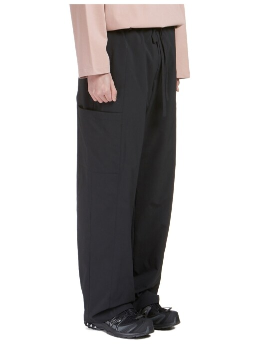 Wide String Pants Black