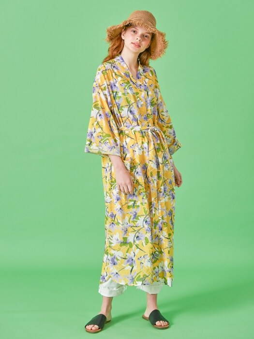 YELLOW PICNIC ROBE