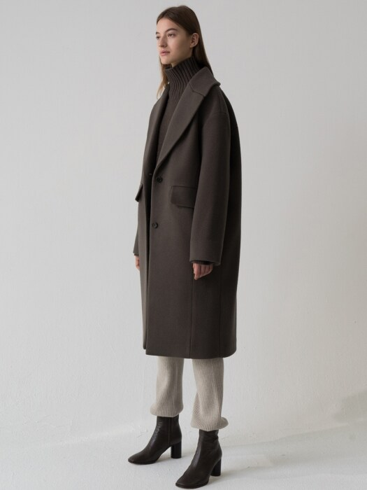 wool coat (khaki brown)
