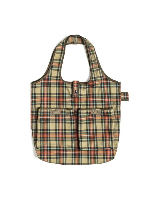 WAGON BAG / BEIGE MULTI CHECK
