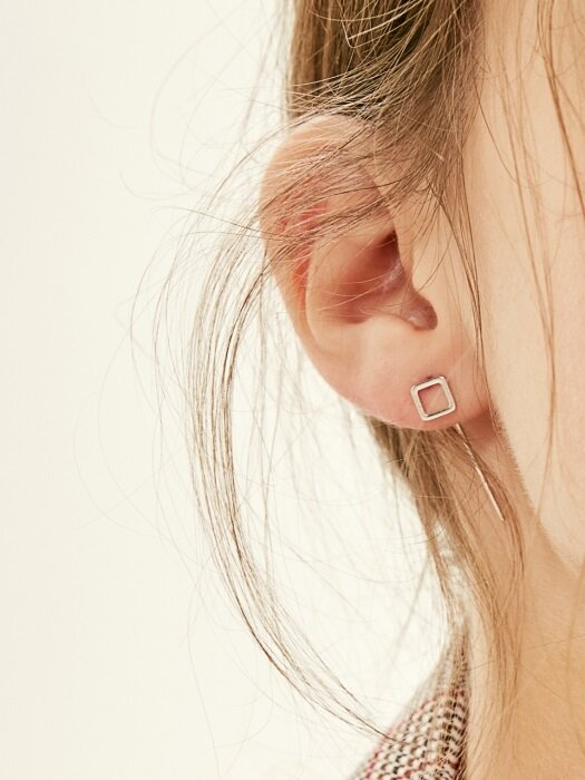 SQUARE HOOK EARRING (2 colors)