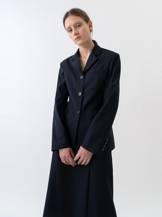 SINGLE LINE JACKET WOMEN [NAVY]