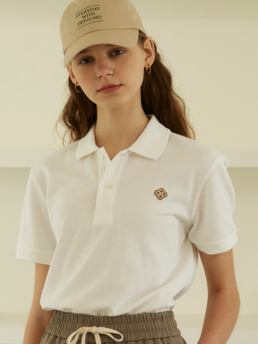 clover polo shirts (white)