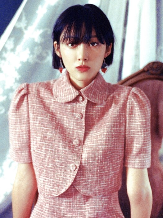 Blooming Bolero Jacket _ Red