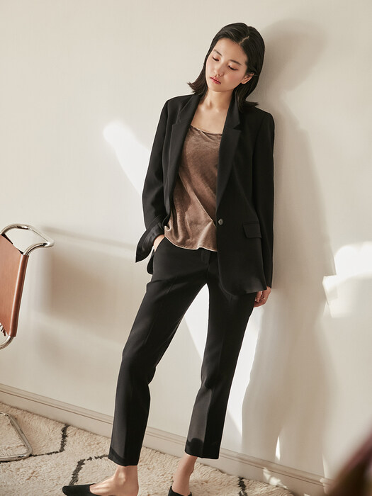 [리퍼브][Drama Signature] Slim Straight Trousers_BLACK,NAVY