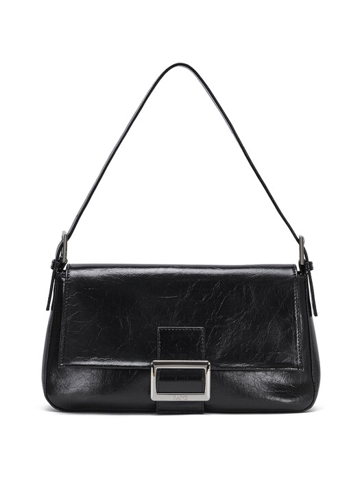 Wrinkle Leather Luke Bag in Black_VX0AG0850