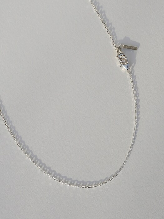 Simple silver chain mask strap (목걸이 겸용)