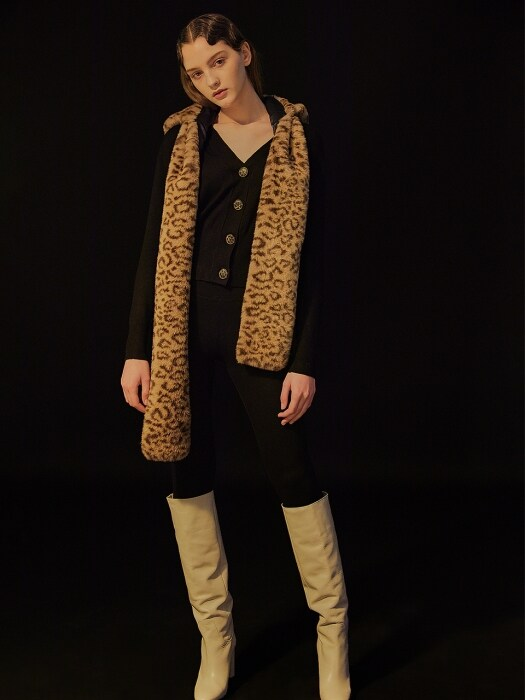 HOODED SCARF_Leopard