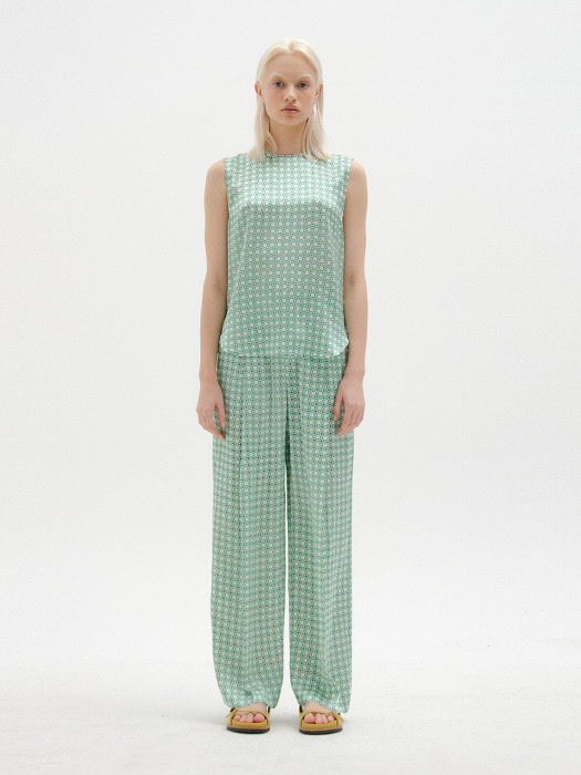 SENEZ Wide Pants - Green Multi