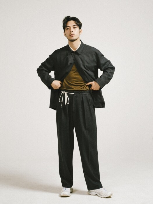 Summer Wool Hakama Pants / Grey