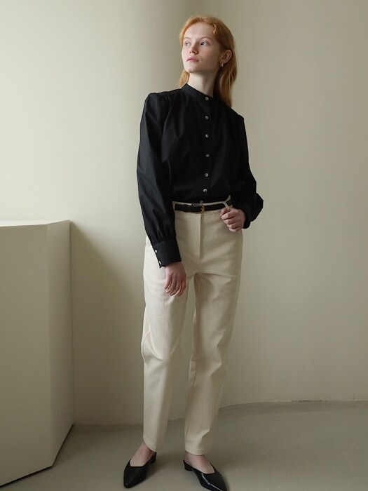 Sage Cotton Pants in Ecru