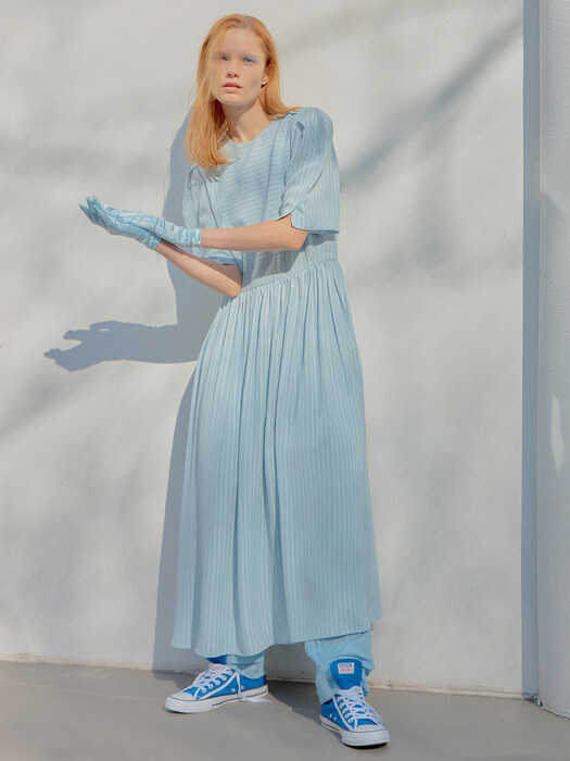 [FRONTROW X EENK] Puff Sleeve Sailor Dress