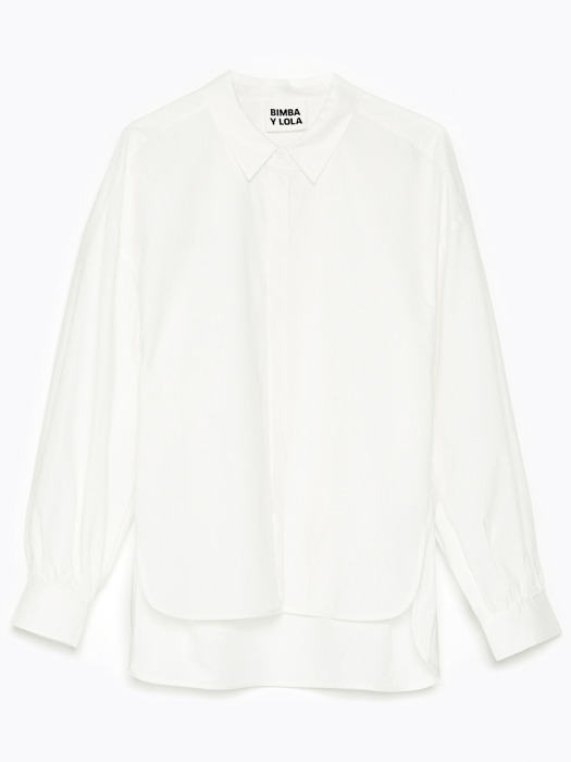 Straight white shirt_B215AWB007WH