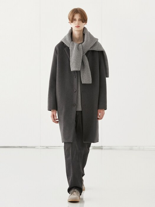 WOOL SINGLE COAT_CHARCOAL