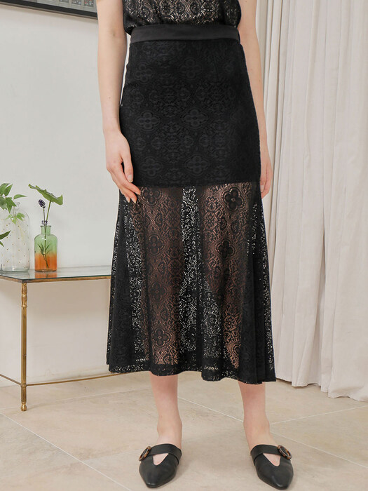 LACE SKIRT_BLACK