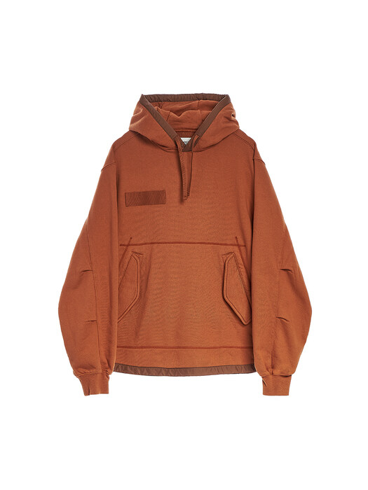 FISHTAIL HOODED SWEATSHIRT / BRICK