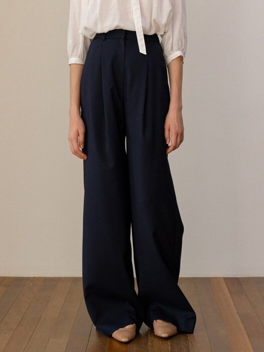 SS19 Wide Pants Dark Navy