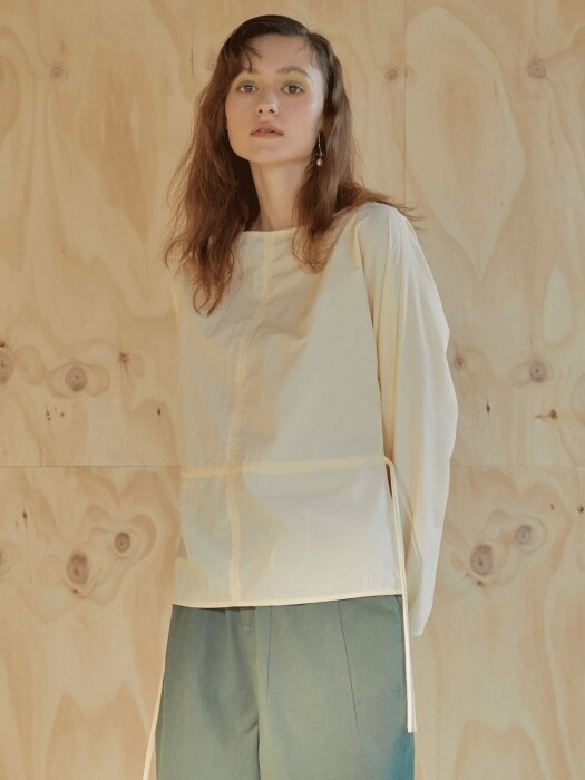 모던 19ss - basic blouse - pastel yellow