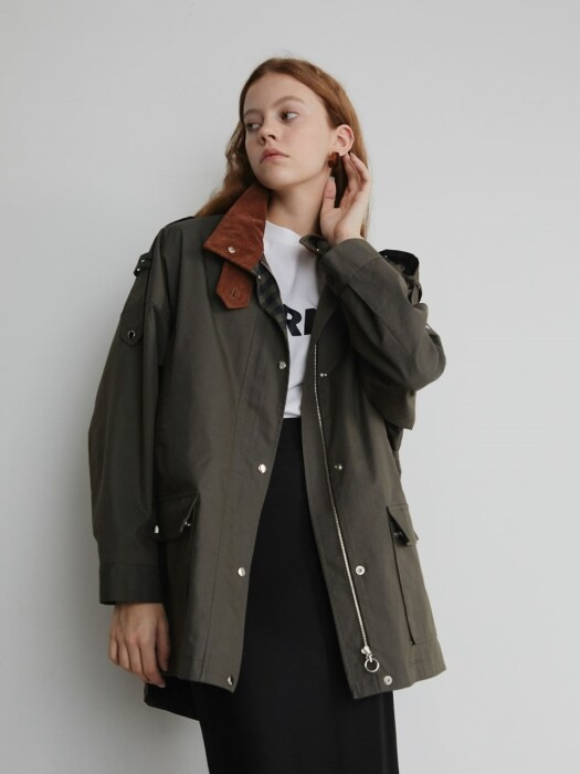19' FALL_Forest Green Casual Outer