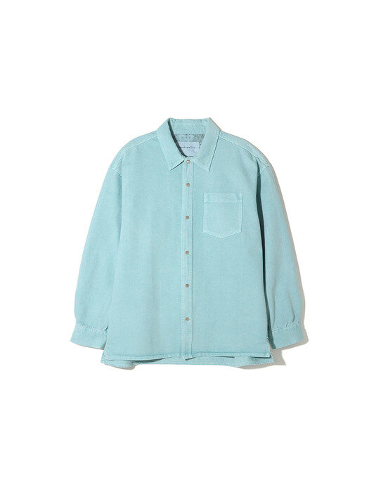 two tone denim over shirt _CWSAM21023MIX