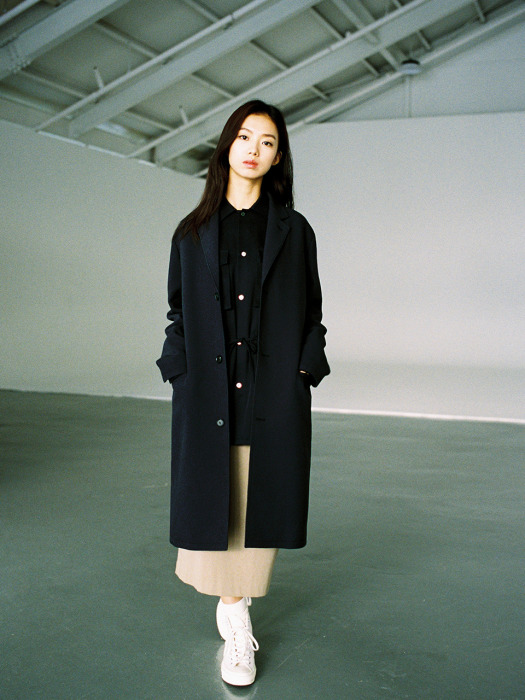 NAVY CC COAT
