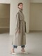 21SN vintage max trench coat [GY]