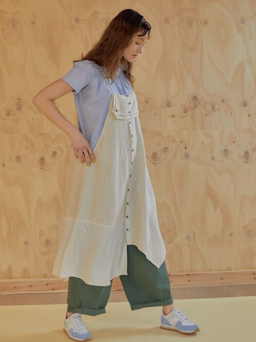 레이어드 19ss - Asymmetric slip dress - beige