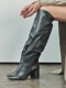 [EXCLUSIVE] LEATHER KNEEHIGH BOOTS_BLACK