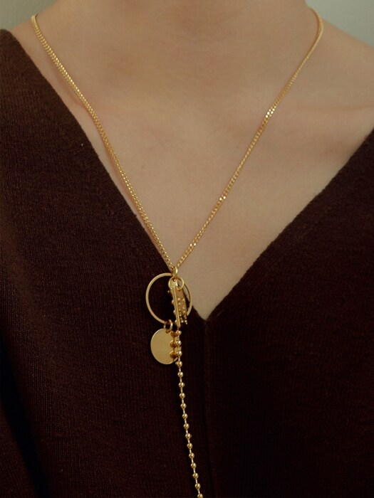 oval `drop` necklace-gold