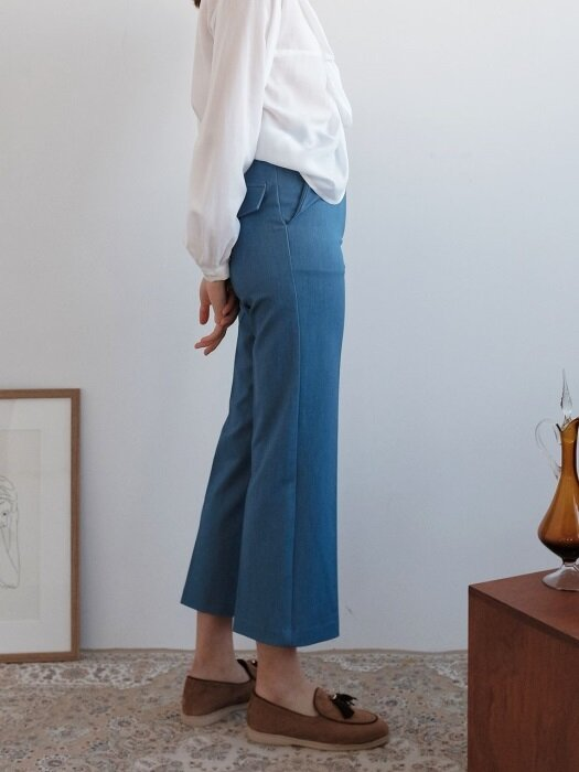 INDIGO STRAIGHT SLACKS