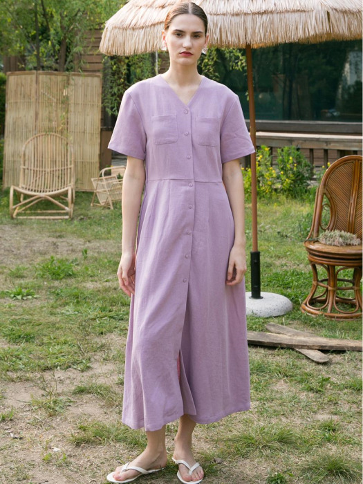 [W컨셉 단독] Soft Twill Dress - Lavender