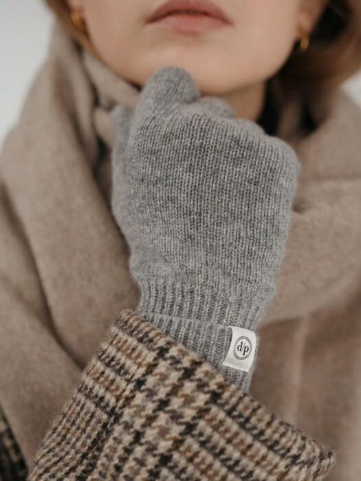 cashmere 100 gloves (gray)