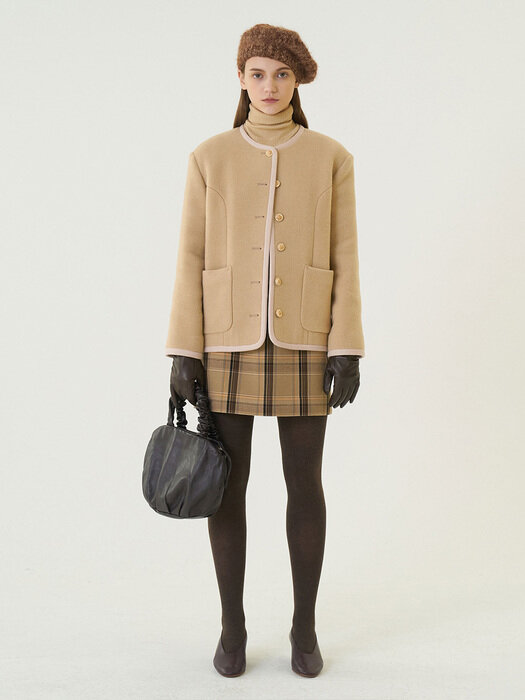 [단독] 20W/T CELIA JACKET [Brown, Mint]