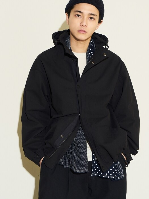 Hood Zip-up Jacket Black