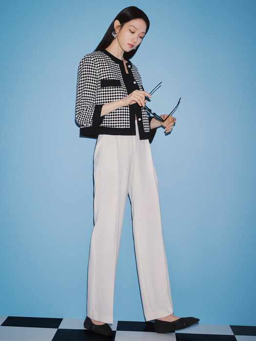 [Drama Signature] Pleated Semi-Wide Trousers_2color