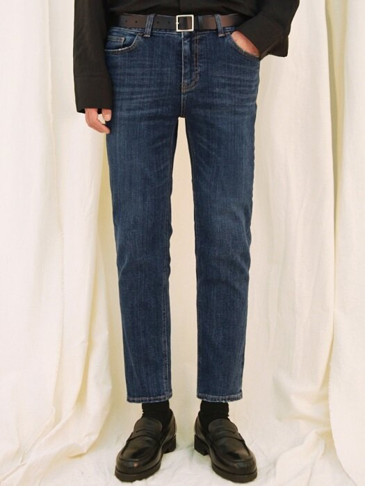 M#1698 winter napping washed slim denim