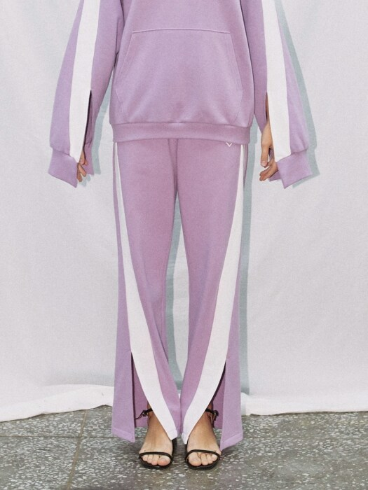 COLOR COMBINATION SLIT PANTS_PURPLE (EEON1FPR02W)