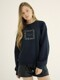 square shape lettering sweat shirt