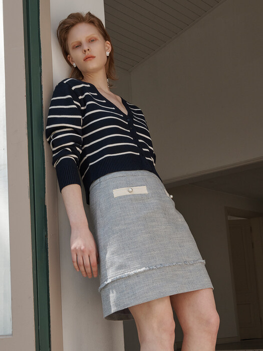[Tweed] Summer Tweed Mini Skirt