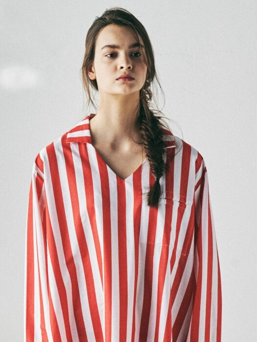 [W] Theodore Kurta Lollipop Stripe Red