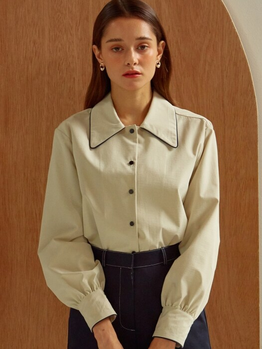 [By Joorti] J260 Line blouse (ivory)