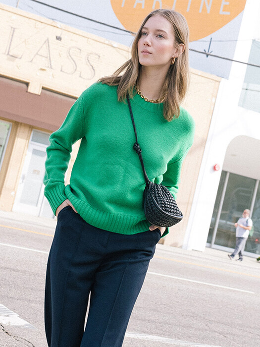 CENTRAL PARK round knit (Fresh green)