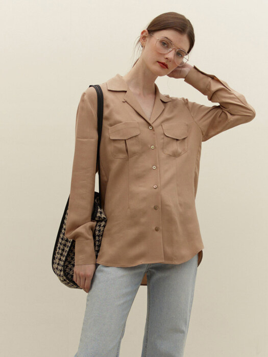 MOKDONG Two pocket shirt (Beige)