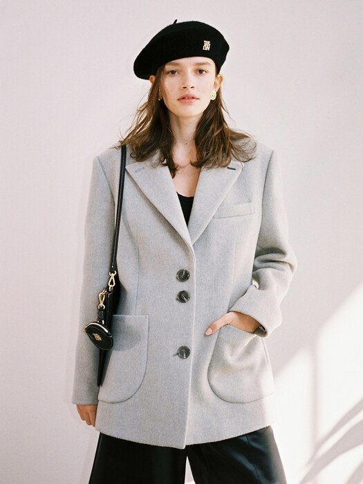 MERYL WOOL CASHMERE COAT_LIGHT GREY
