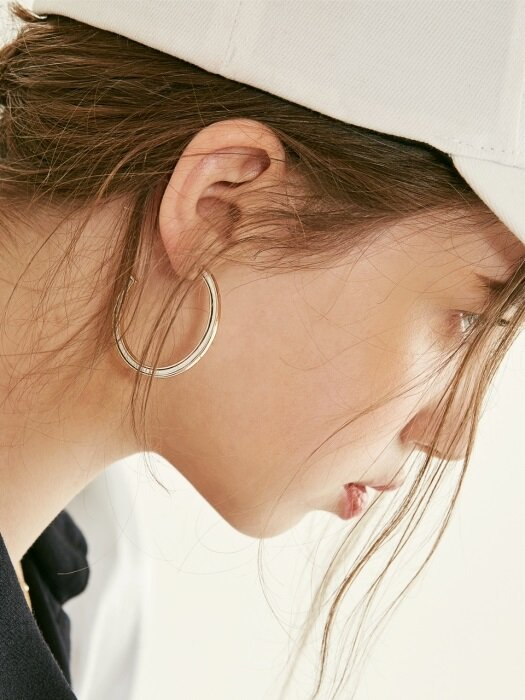 SIDE RFS RING EARRING (3 colors)
