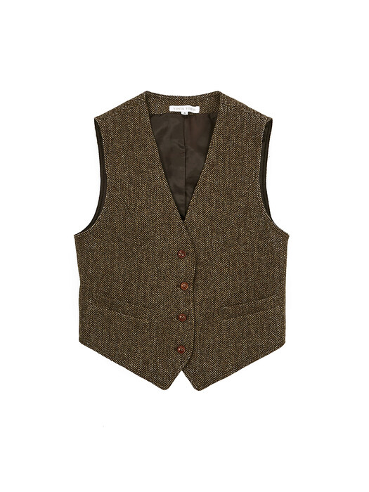 Herringbone Wool Vest_2Colors