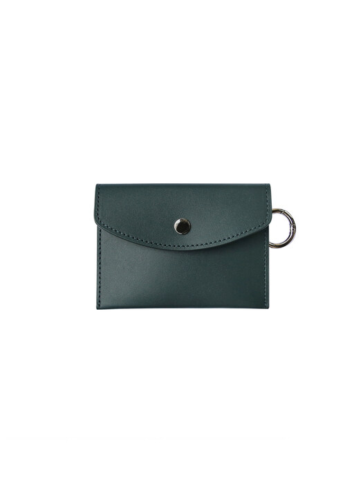 Classic card wallet - forest green